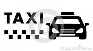 voiture-noire-de-taxi-sur-le-fond-blanc-54237118
